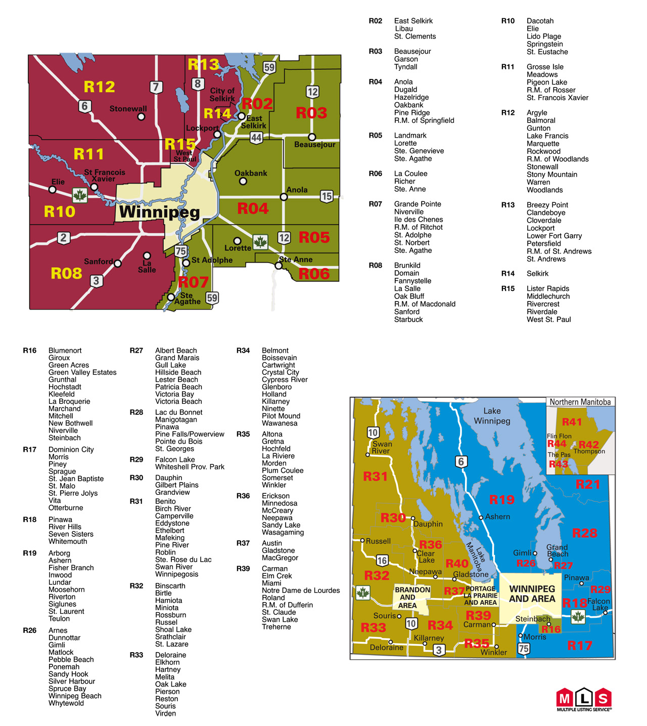 MLS Rural Map - Winnipeg Homes for Sale